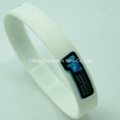 White silicone bracelet for adult