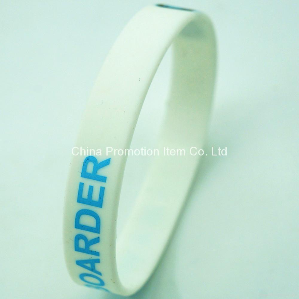 White Silicone Bracelet 74