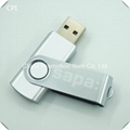 Popular hign quality silver color usb stick flash drive with laser logo