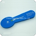 Used 2015 spoon shaped blue plastic usb flash drives with logo custom