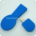 Used 2015 spoon shaped blue plastic usb flash drives with logo custom