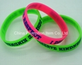 PMS silicone wrist band with logo
