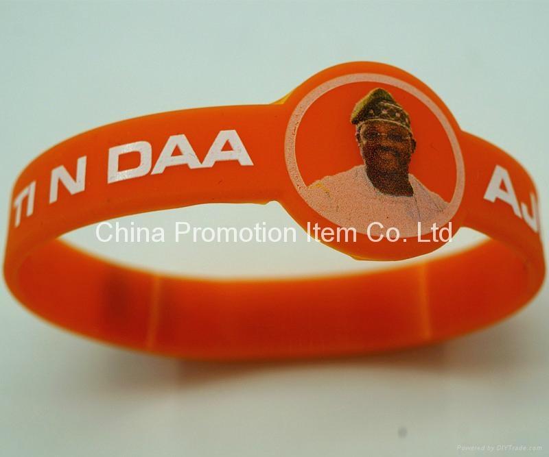 Watch shape silicone wrist band with logo 1