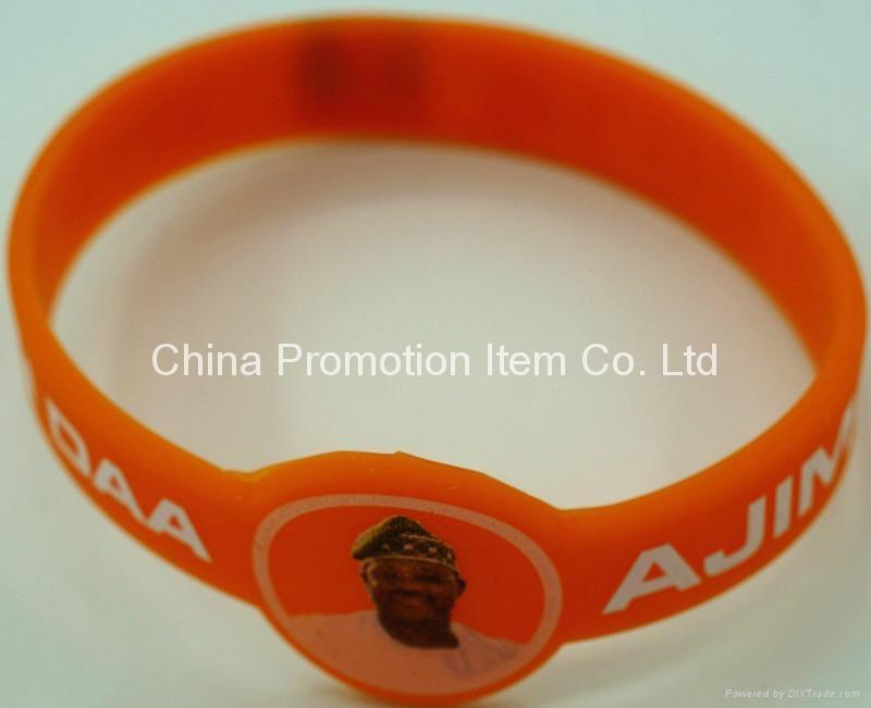 Watch shape silicone wrist band with logo 2