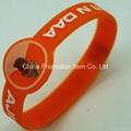 Watch shape silicone wrist band with logo 3