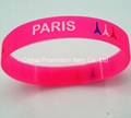Rose red silicone bracelets for girls