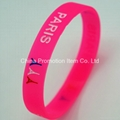 Rose red silicone bracelets for girls 2