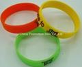 Solid color silicone bracelets for kids