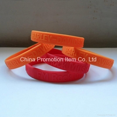 Orange and red silicone band as gifts