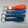 100% silicone solid color keychain 1