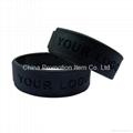 100% silicone black armband/ wristband