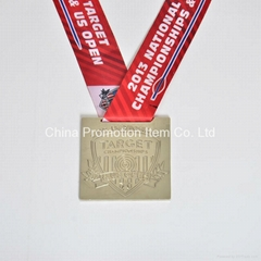 Custom high quanlity souvenir metal medals with ribbon