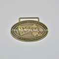 Antique imitation style embossed logo medals in oval shape