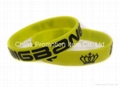 Yellow wrist band with logo for fans