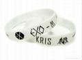 100% silicone wrist band