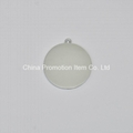 Single simple embossed pattern silver medal