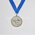 Summer swimming champions medals with medal lanyards