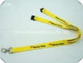Polyester material lanyard with 2 colors logo printed on