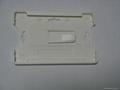 white plastic card holder&pvc card