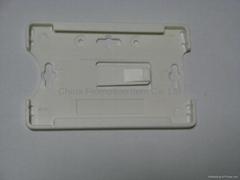 white plastic card holder&pvc card holder