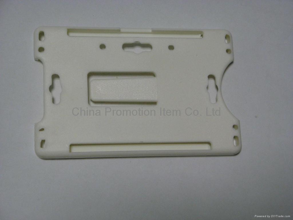 white plastic card holder&pvc card holder 2