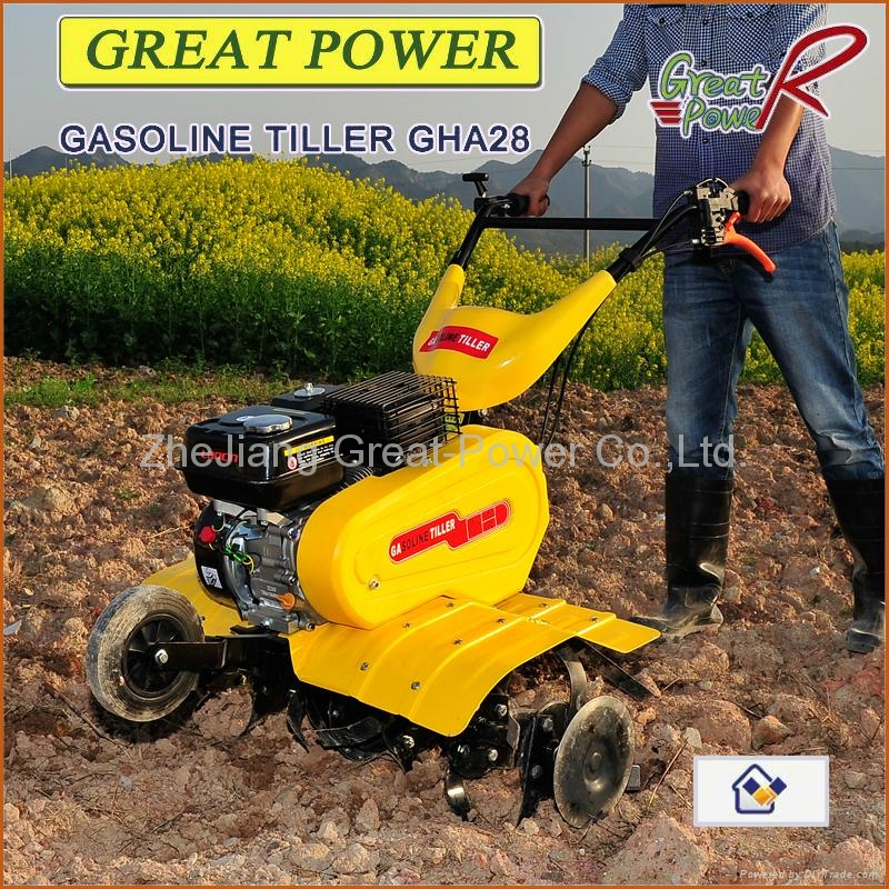 Gasoline tiller GT75R with new mudguard  3
