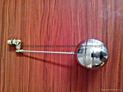厂家直销 杠杆式浮球阀尺寸dn15 材质304不锈钢球阀遥控浮球阀
