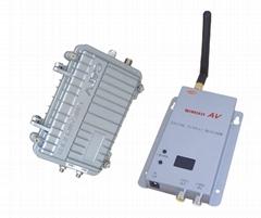 无线模拟视频防水传输器2.4G8瓦