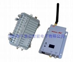 无线微波传模拟摄像机输出视频4公里防水传输器