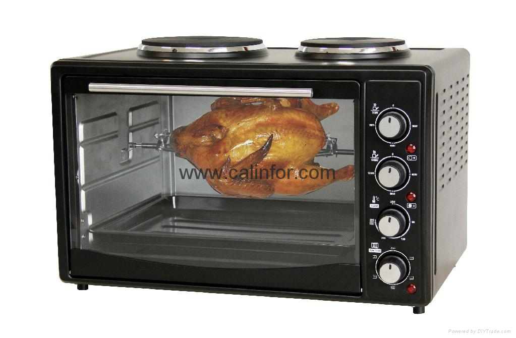 Electric Oven with Top Tray 4