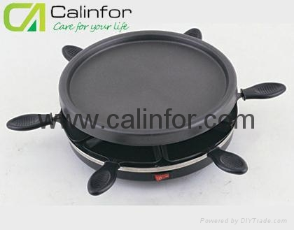 6 persons Electric Raclette  Grill 1