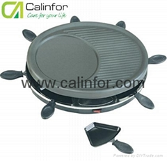 8 Persons Electric Raclette Grill