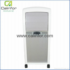 Pearl white portable air cooler in low