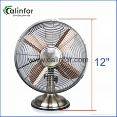 "Calinfor small 12"" compact stand desk fan"