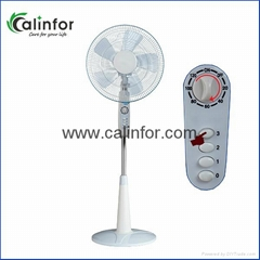 Calinfor white electric stand fan with timer