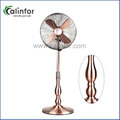 """Calinfor 16"""" exclusive gourd shape round base metal stand fan"""