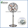 "Calinfor 16"" metal oscillating stand fan"