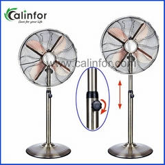 "Calinfor 16"" metal oscillating stand fan"