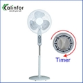 Calinfor black & white low power stand fan with remote control 4