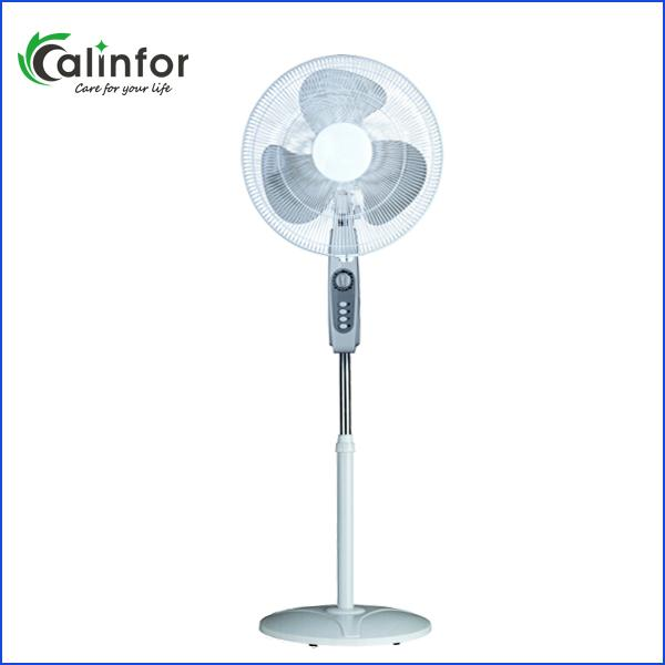 Calinfor black & white low power stand fan with remote control 3