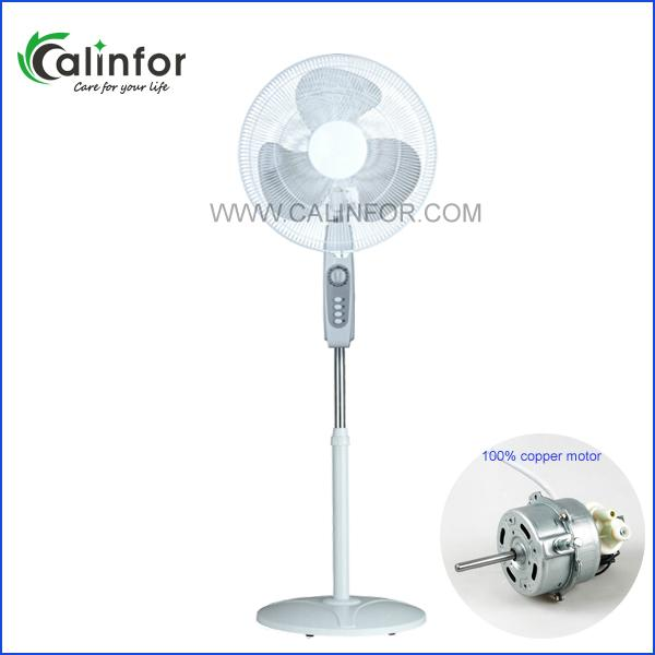 Calinfor black & white low power stand fan with remote control 5