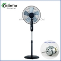 Calinfor black & white low power stand fan with remote control 6