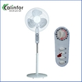 Calinfor black & white low power stand fan with remote control 7