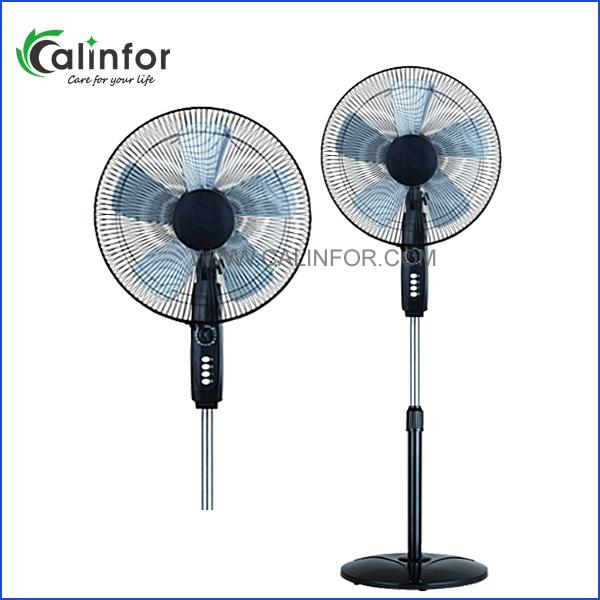 Calinfor black & white low power stand fan with remote control 1