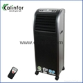 Portable floor standing air cooler fan with mist
