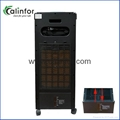 Pearl white Floor standing home use air cooler with ion