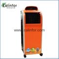 Orange color portable floor standing air cooler