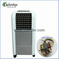 Small home portable indoor air cooling fan with mist