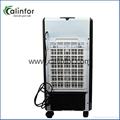 Calinfor white portable LCD air cooler fan for home using