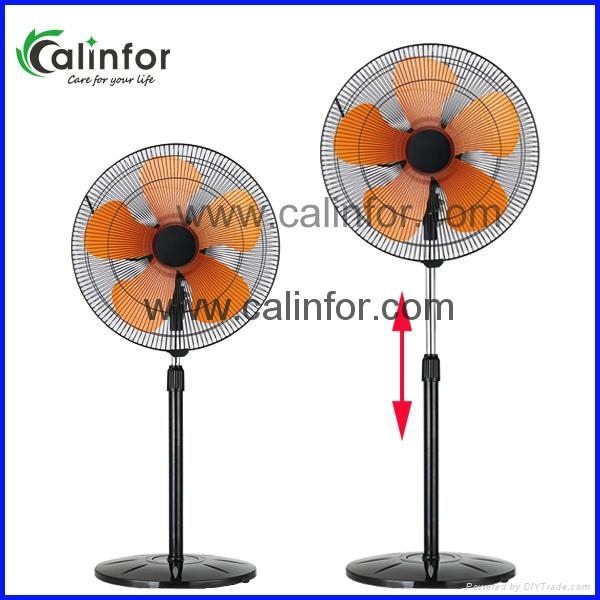 Calinfor height ajustment 18 inch stand fan / industrial stand fan 5